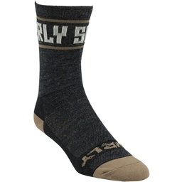 "Surly Sports Logo 5"" Sock: Black/Cream"