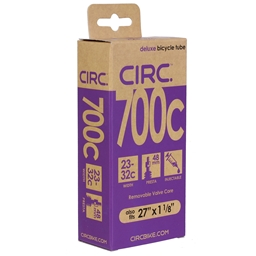 "Circ Deluxe Tube, 700x23-32c+27x1-1/8"", PV(r) 48mm, Each"