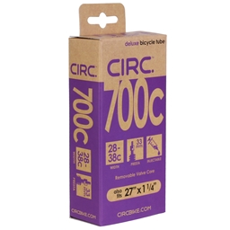 "Circ Deluxe Tube, 700x28-38c+27x1-1/4"", PV(r) 33mm, Each"
