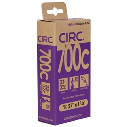 "Circ Deluxe Tube, 700x23-32c+27x1-1/8"", PV(r) 80mm, Each"