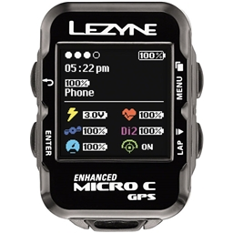 Lezyne Micro Color GPS Loaded Cycling Computer with Heart Rate and Speed/Cadence Sensor: Black