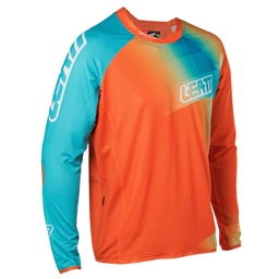 Leatt Jersey DBX 4.0 Ultraweld Longsleeve, Orange/Teal- Medium