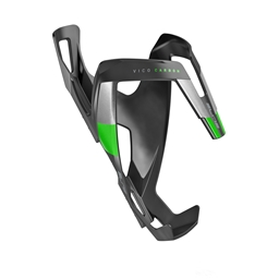 Elite Vico Carbon Bottle Cage, Matte Black/Green