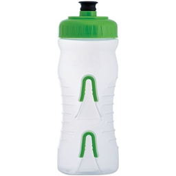 Fabric Cageless Water Bottle: 600ml, Clear/Green