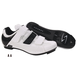 Serfas Women's Paceline 3-Strap Road Shoes White SWR-401W