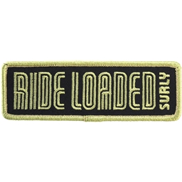 "Surly Ride Loaded Patch: 4.25"" x 1.38"" Light Army Green/Black"