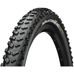 "Continental Mountain King 26 x 2.3"" Fold ProTection+ Tire: Black Chili"