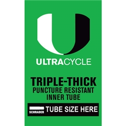 """Ultracycle 20 x 1.5-1.75"""" Puncture Resistant Schrader Valve Tube"""