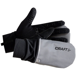 Craft Hybrid Weather Glove: Silver/Black