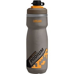 Camelbak Podium Chill Dirt Series Water Bottle: 21oz Shadow Grey/Sulphur