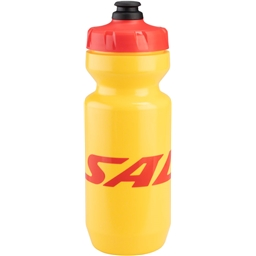 Salsa Purist Water Bottle: 22oz Logo Yellow