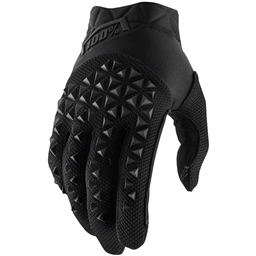 100% Airmatic Youth Full Finger Gloves: Black/Charcoal