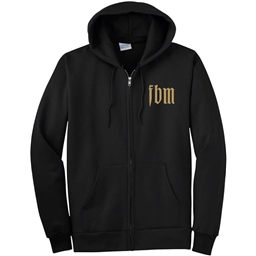 FBM Infinity Zip-Up Hoodie: Black