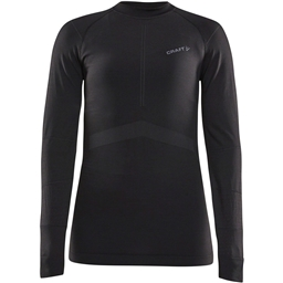 Craft Active Intensity Long Sleeve Crew Neck Top - Black/Asphalt, Women's