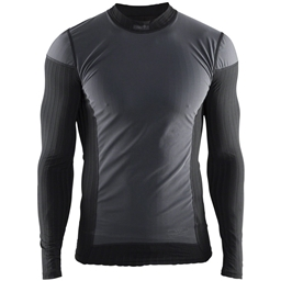 Craft Active Extreme 2.0 Windstopper Crew Neck Long Sleeve Top - Black, Men's