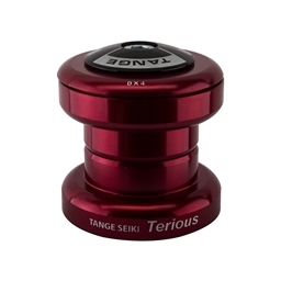 """Tange Terious DX4 Threadless Headset, 1-1/8"""", Red"""