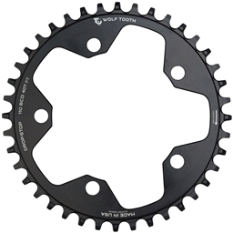 Wolf Tooth 110 BCD Cyclocross and Road Chainring - 40t, 110 BCD, 5-Bolt, Drop-Stop, 10/11/12-Speed Eagle and Flattop Compatible, Black