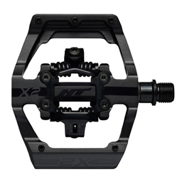 HT Pedals X2 Clipless Platform Pedals, CrMo, Stealth Black