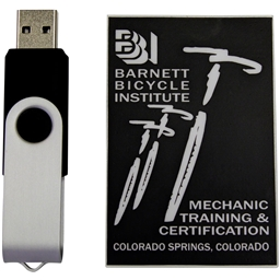 Barnett Bicycle Institute Manual DX 14th Edition on USB Drive