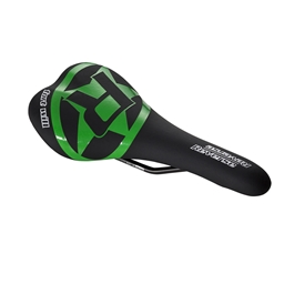 Reverse Fort Will Style CrMo Saddle, Black/Neon Green