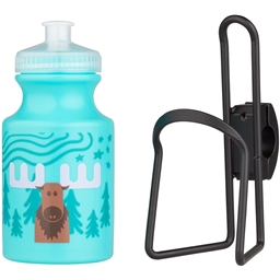 MSW Kids Water Bottle and Cage Kit - Moose w/ Black Cage