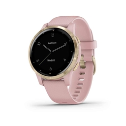 Garmin, vivoactive 4S, Watch, Watch Color: Dust Rose, Wristband: Dust Rose - Silicone