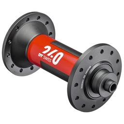DT Swiss 240 Front Hub - QR x 100mm, 24h, Black/Red