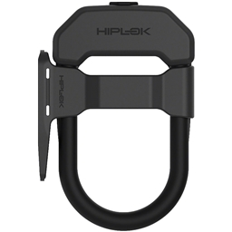 "Hiplok DXF Wearable U-Lock With Frame Clip - 3.34 x 5.9"", Keyed, Black"