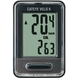 Cateye Velo 9 Cycling Computer 9 Functions CC-VL820 Black