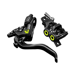 Magura MT7 Next 4-Piston Disc Brake and Lever Front or Rear with 2000mm Hose, Yellow/Carbon