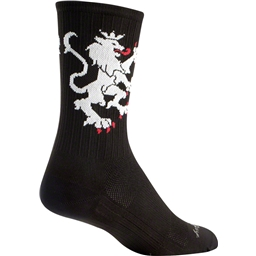 SockGuy SGX Lion of Flanders Sock: Black