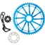 Wolf Tooth Components WolfCage Combo Pack: Includes 49T Cog, 18T Cog, and Derailleur Cage, Blue