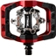"""DMR V-Twin Clipless Pedals: 9/16"""", Alloy Outer Platform, Red"""