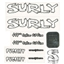 Surly Pugsley Frame Decal Set with Headbadge: White