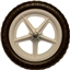 Strider Replacement Wheel: Ultralight, White, Sold as Each