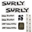 Surly Long Haul Disc Trucker Decal Set with Headbadge: Black