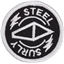 "Surly Steel Patch: Black/White 1.9"" Diameter"