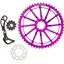 Wolf Tooth Components WolfCage Combo Pack: Includes 49T Cog, 18T Cog, and Derailleur Cage, Purple