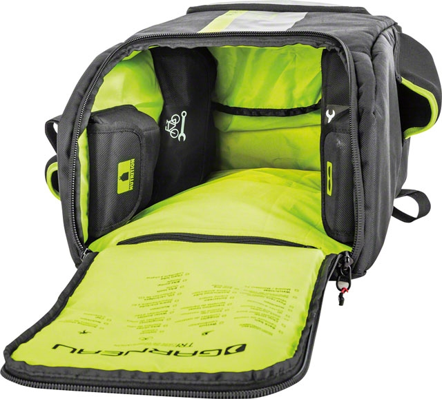 A Transition Bag With Four Inner Compartments And Flat Bottom Panel To Keep Its Shape