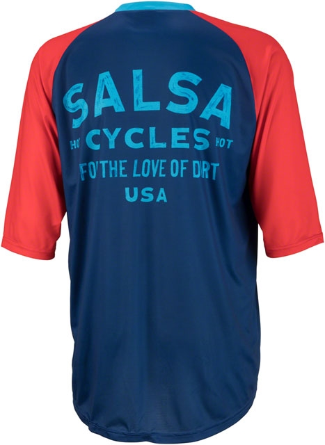 Salsa Devour Men s Short-Sleeve Jersey  Blue - Modern Bike c9f3f0aab
