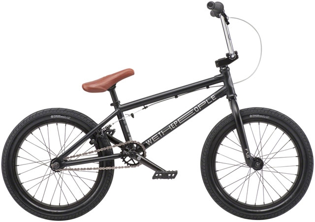 We The People CRS 18 2019 Complete BMX Bike 18 Top Tube Matte Black