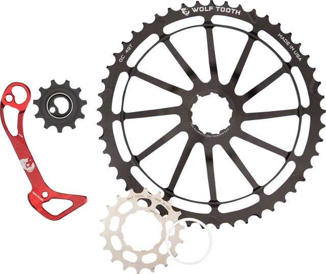 cassettes Black New Wolf Tooth GC49 Kit 49 /& 18t Cogs for Sram 11-42T 11 sp