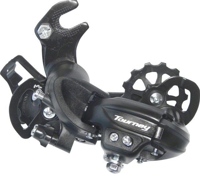 Shimano Tourney TY300 6//7-Speed Long Cage Rear Derailleur Direct-Attach
