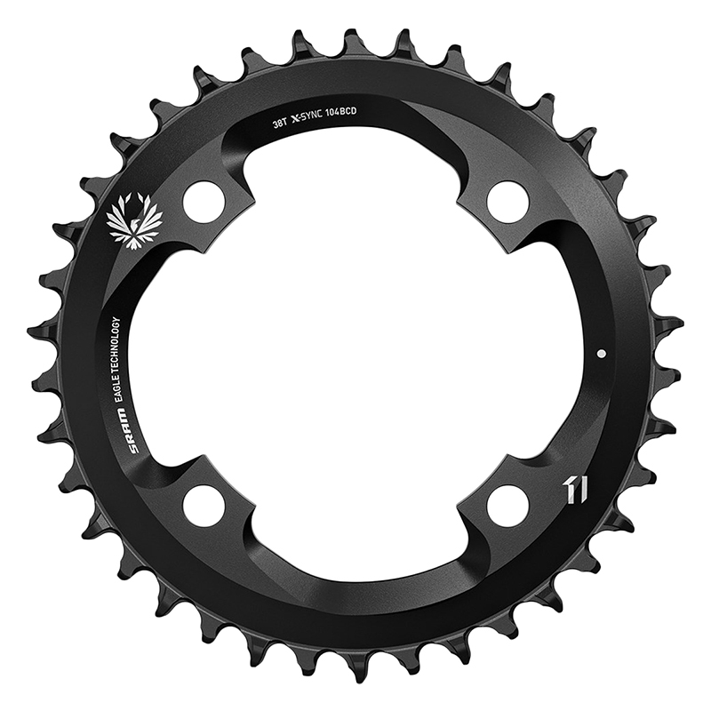SRAM X-Sync 2 11 or 12 Speed Chainring 34T 104mm BCD Black