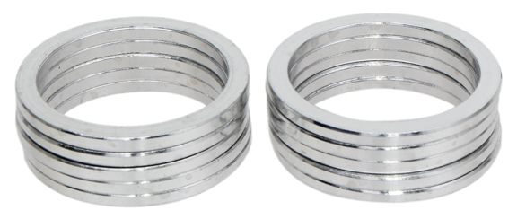 "silver 10//bag 1/"" x 2.5mm Vuelta Headset spacer"