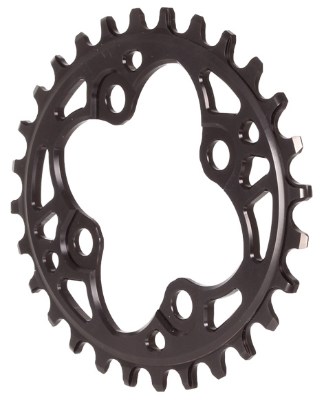 Absolute Black 104 Oval chainring 104BCD 30t red