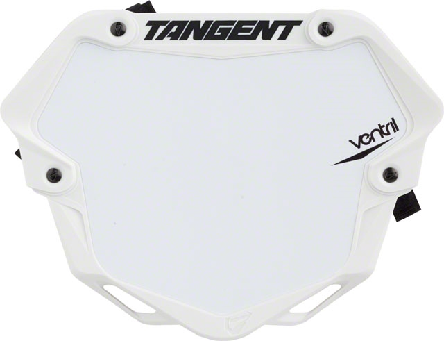 Tangent Ventril 3D Small Number Plate Black with White Insert