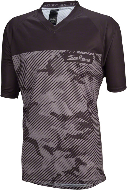 Salsa Devour Men s Short-Sleeve Jersey  Gray Camo - Modern Bike 54195408c
