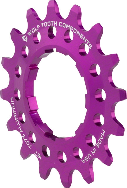20T Wolf Tooth Components Single Speed Aluminum Cog Purple