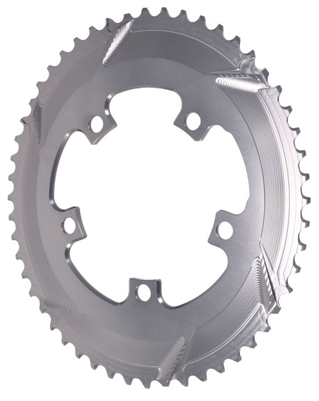 black Absolute Black Premium oval road chainring 5x110BCD 50T